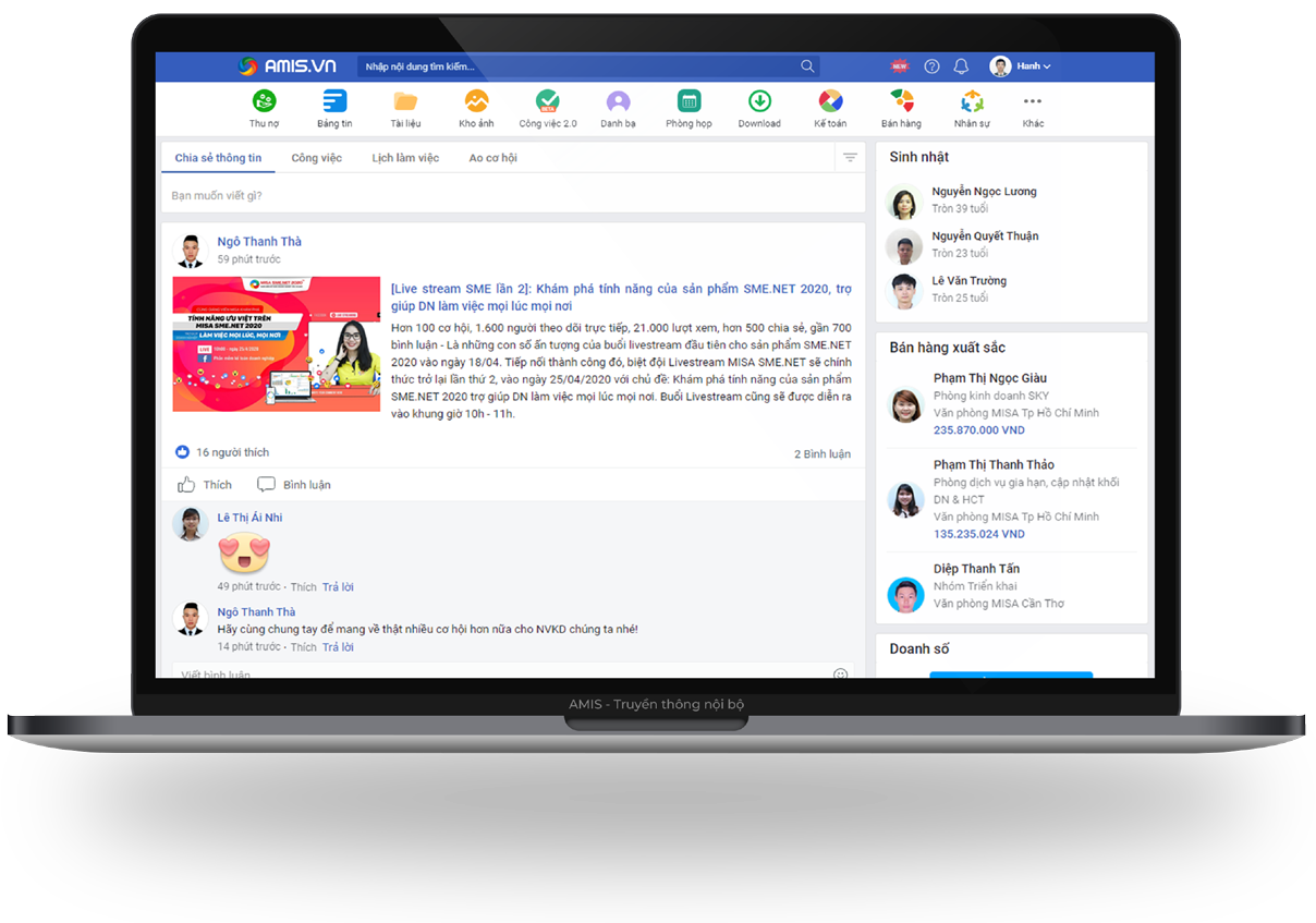 AMIS Mạng xã hội doanh nghiệp